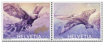 n° 2524/2525 - Timbre SUISSE Poste (EUROPA)