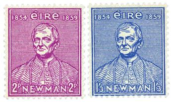 n°124/125** - Timbre IRLANDE  Poste