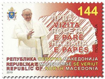 n° 837 - Timbre MACEDOINE Poste