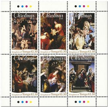 n° 1518/1523 et n° 1524/1529 - Timbre TONGA Poste