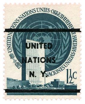 n°2a(*) - Timbre ONU NEW-YORK Poste