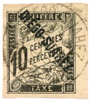 n°8 obl. - Timbre DIEGO-SUAREZ Taxe