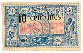 n°29 obl.  - Timbre COTE DES SOMALIS Poste