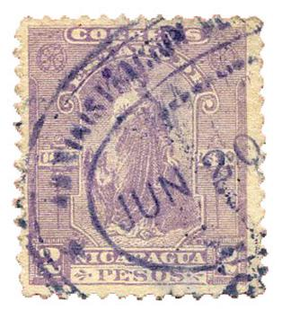 n°119 obl. TB - Timbre NICARAGUA Poste