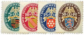 n°390/393* - Timbre ALLEMAGNE REICH Poste