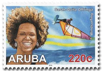 n° 1063/1066 - Timbre ARUBA Poste