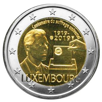 2 EURO COMMEMORATIVE 2019 : LUXEMBOURG (100 ans du suffrage universel)