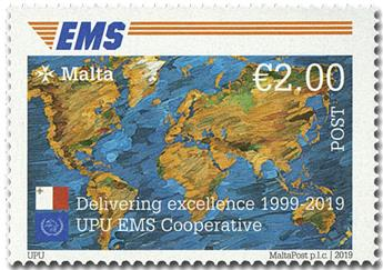 n° 1980 - Timbre MALTE Poste