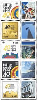 n° 1038/1042 - Timbre ONU VIENNE Poste