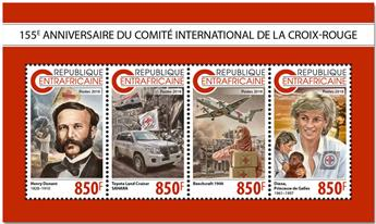 n° 5952/5955 - Timbre CENTRAFRICAINE Poste