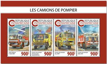 n° 5972/5975 - Timbre CENTRAFRICAINE Poste