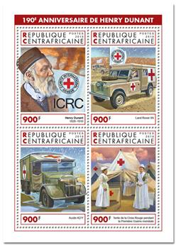 n° 6032/6035 - Timbre CENTRAFRICAINE Poste