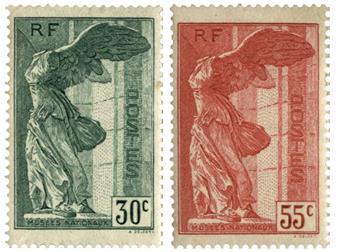 n.o 354/355 -  Sello Francia Correos