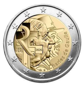 2 EURO COMMEMORATIVE 2020 : FRANCE (CHARLES DE GAULLE)