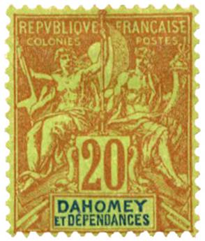 n°10* - Timbre DAHOMEY Poste