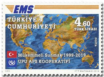 n° 3983 - Timbre TURQUIE Poste