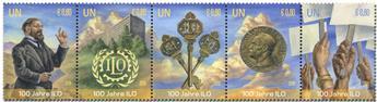 n° 1032/1036 - Timbre ONU VIENNE Poste