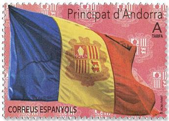 n°480 - Timbre ANDORRE ESPAGNOL Poste