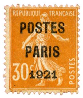n°29(*) TB - Timbre FRANCE Préoblitères