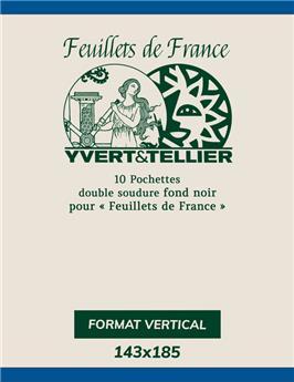 Filoestuches doble costura - AnchoxAlto: 209 x 98 mm (Fondo negro)