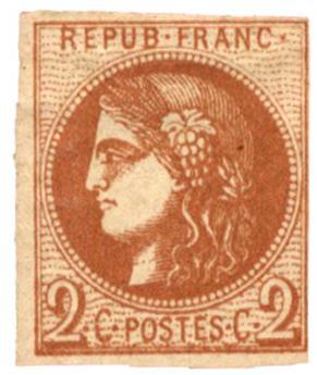 n°40B(*) TB - Timbre FRANCE Poste