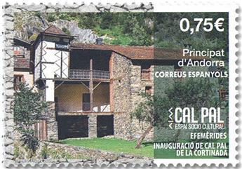 n° 485 - Timbre ANDORRE ESPAGNOL Poste