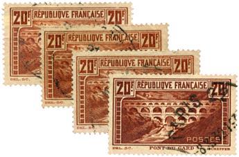 n°262, 262b, 262e, 262A obl. - Timbre FRANCE Poste