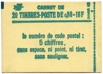 n°1970-C1**  - Timbre FRANCE Carnets