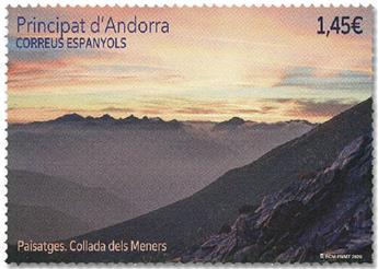 n° 489 - Timbre ANDORRE ESPAGNOL Poste