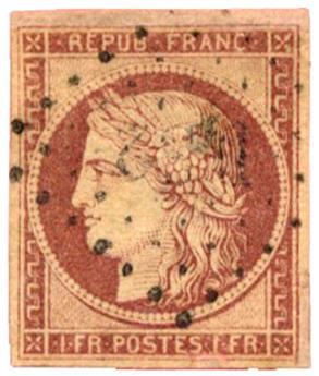 n°6 obl. B - Timbre FRANCE Poste
