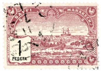 n°104 obl. - Timbre MAROC SAFI A MARRAKECH Poste