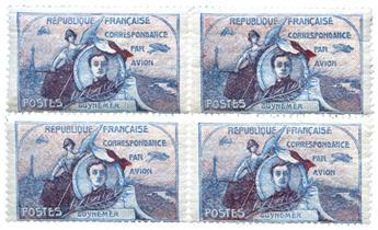 n° 1/2 -  Selo França Correio aéreo
