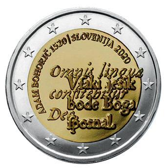 2 EURO COMMEMORATIVE 2020 : SLOVENIE (500 ans d´Adam Bohoric)