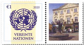 n° 1072 - Timbre ONU VIENNE Poste
