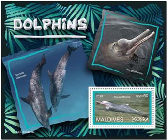 n° 1325 - Timbre MALDIVES Blocs et feuillets