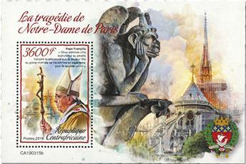 n° 1454 - Timbre CENTRAFRICAINE Blocs et feuillets