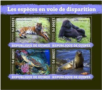 n° 10013/10016 - Timbre GUINEE Poste
