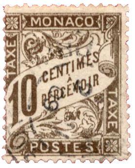 n°4 obl.   - Timbre MONACO Taxe