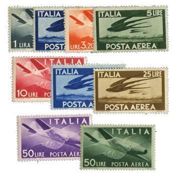 n°113/121** - Timbre ITALIE  Poste Aérienne