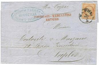 France : n°23 obl. sur lettre