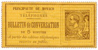 n°1(*) - Timbre MONACO Téléphone