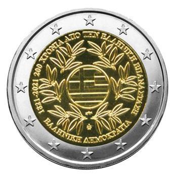 2 EURO COMMEMORATIVE 2021 : GRECE (200 ans de la Révolution grecque)