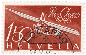 n°40 obl. - Timbre SUISSE Poste Aérienne