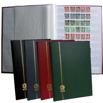 PERFECTA : Classeur fixe pour timbres (Grand modèle-Pages Blanches-64p.)