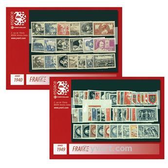 n° 451/862 -  Timbre France Année complète (1940/1949)