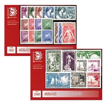 n° 215/337B -Timbre MONACO Année complète (1941/1949)