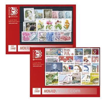n° 1990-1999 -  Selo Mónaco Ano completo