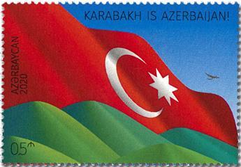 n° 1253 - Timbre AZERBAIDJAN Poste