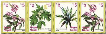 n° 1269 (x2) + n° 1270/1271 - Timbre NEPAL Poste