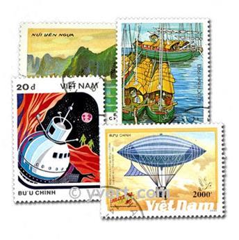 VIETNAM: lote de 200 sellos